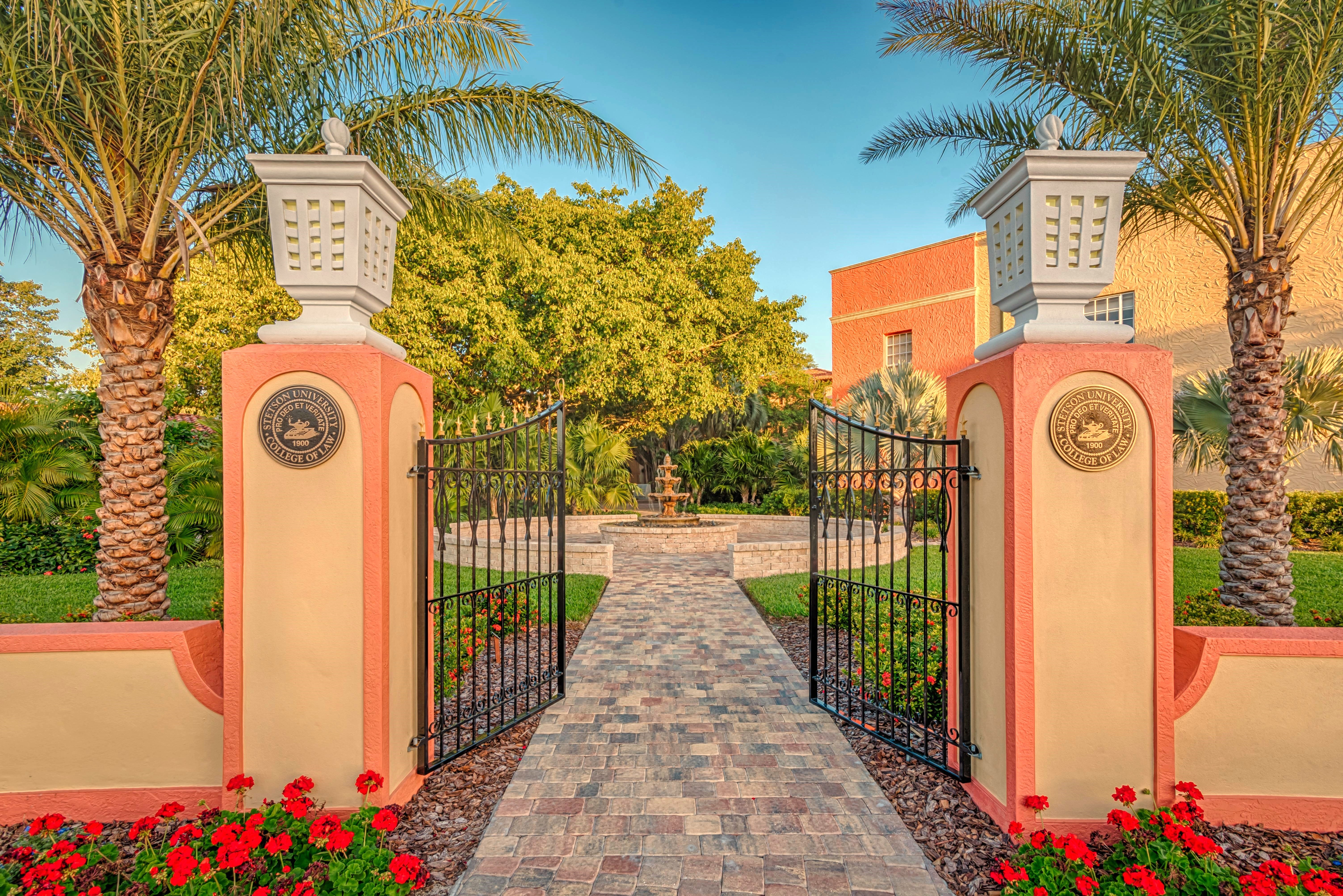 Front gate of Stetson University College of Law