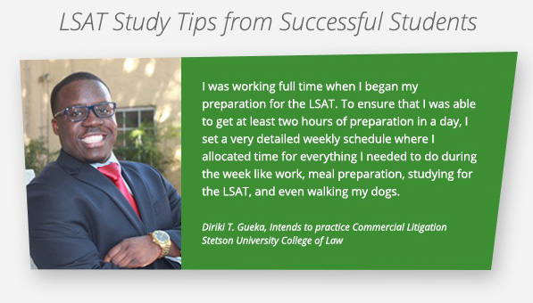 LSAT Tip 1: Schedule!