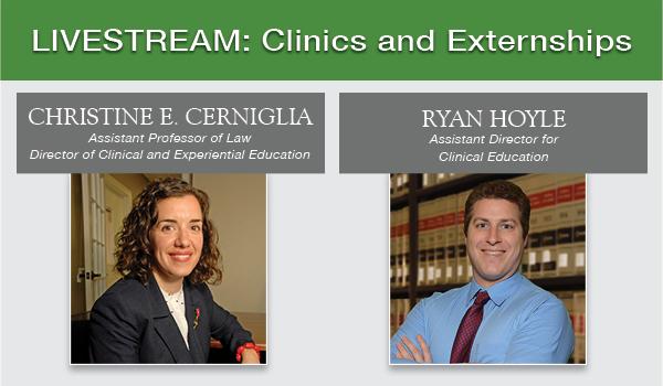 Clinics and Externships Live Stream